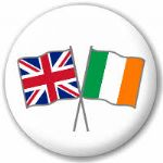 Great Britain and Ireland Friendship Flag 25mm Pin Button Badge